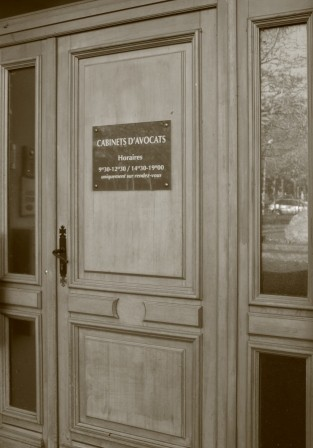 Porte d'entrée du cabinet d'Avocats Denis LAMBERT à Saint-Nazaire